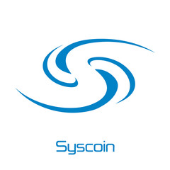 Syscoin Cryptocurrency Coin Sign Isolated