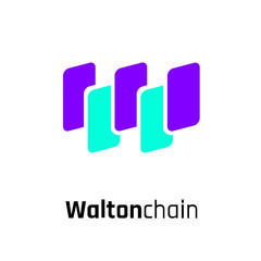 Waltonchain Cryptocurrency Coin Sign Isolated