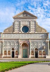 Basilica of Santa Maria Novella in Florence, Italy. Front view