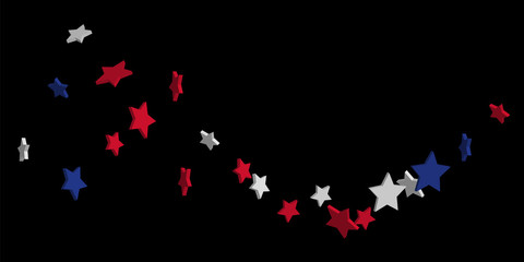 Abstract background red, blue, white stars
