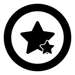 Two star best of the best icon black color vector illustration simple image