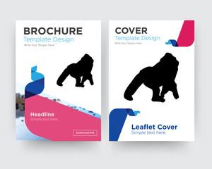 gorilla brochure flyer design template