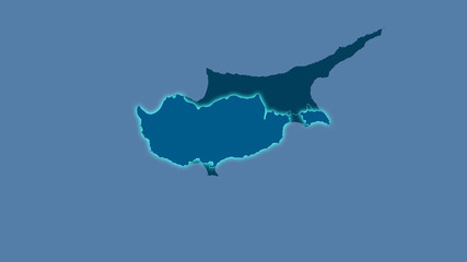 Cyprus, solid - light glow