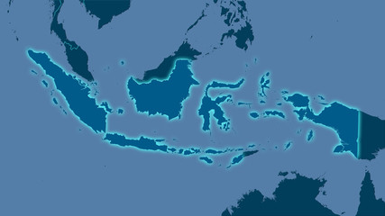 Indonesia, solid - light glow