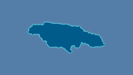 Jamaica, solid - light glow