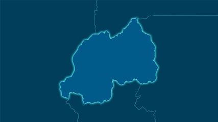 Rwanda, solid - light glow