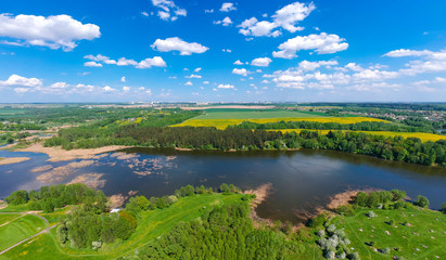 Landscape in Belarus shutted from drone