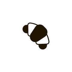 croissant icon. sign design