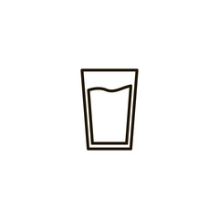 water glass icon. sign design
