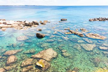 Gallipoli, Apulia - Impressive water colors at the coastline
