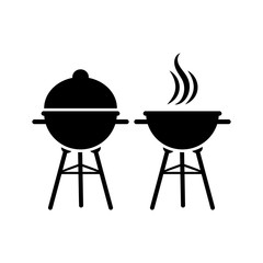 Barbecue grill vector illustration.