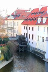 Little Prague Venice (water channel in Prague) water mill