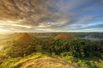 Photo sur cadre textile Colline Spectacular look at the chocolate hills, Bohol, Philippines