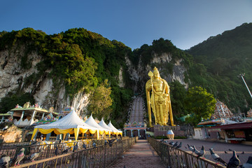 Photo Stands Kuala Lumpur Entrance to Batu cave, Kuala Lumpur, Malaysia