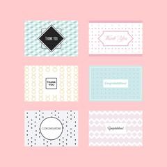 Speech wedding card designs vector