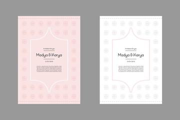 Paper wedding card designs vector