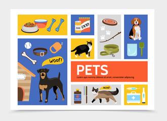 Flat Pet Shop Infographic Concept