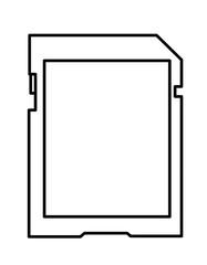 SDカードシール(線画)