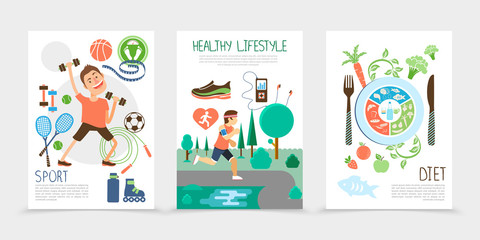 Flat Healthy Lifestyle Brochures