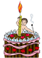 First birthday cake.