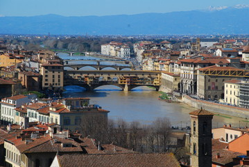 Ponte Vecchio; Florence; town; geographical feature; city; cityscape