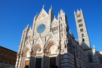Siena Cathedral; landmark; building; spire; cathedral