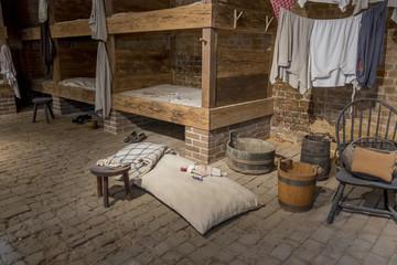 Recreation of Bunks in Slave Quarters, Mt. Vernon