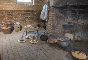 Recreation of Fireplace in Slave Quarters, Mt. Vernon