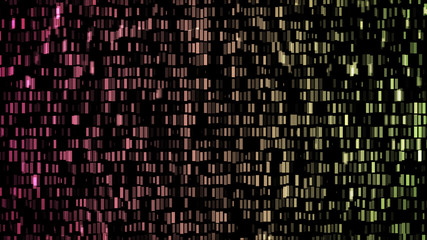 Wall of lights abstract background pink green