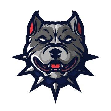 dog pitbull esport gaming mascot logo template, bulldog