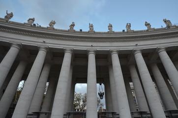 Saint Peter`s Square; landmark; column; classical architecture; building