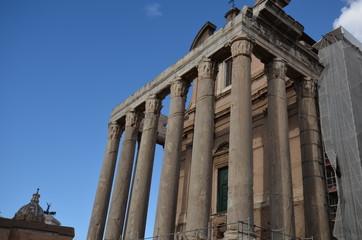Ancient Rome; Temple of Antoninus and Faustina; ancient roman architecture; landmark; classical architecture; roman temple