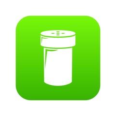 Salt shaker icon green vector