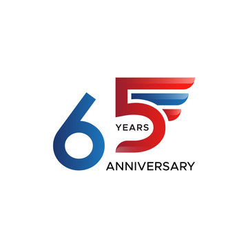 65th anniversary wing vector