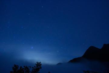 南アルプス 星空 塩見小屋からの眺め