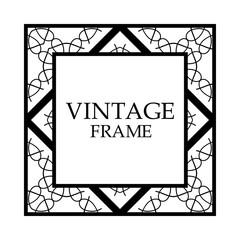 Retro ornamental frame