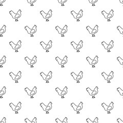 Chicken pattern vector seamless