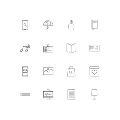 Business And Office linear thin icons set. Outlined simple vector icons