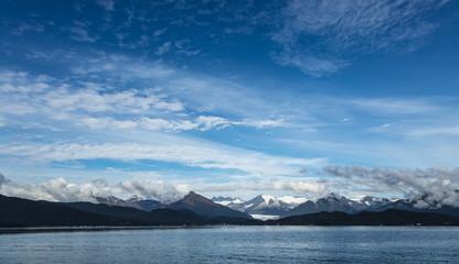 Magnificent Mendenhall Glacier across the water, Alaska, USA