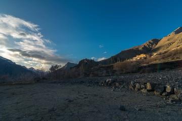Sunset in Spiti Valley