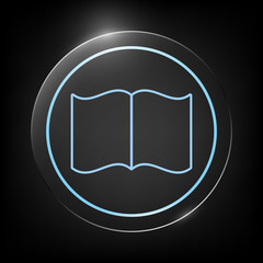 Open book symbol icon
