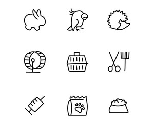 pet icon set design illustration, hand drawn style design, designed web and app