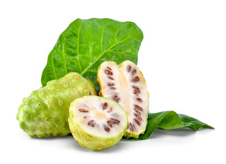 Noni fruit isolated on the white background Wall mural