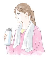 トレーニングウェアの女性
