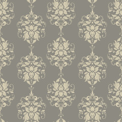 Seamless vintage baroque pattern. Vector floral background