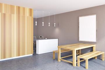 Rustic kitchen corner, frame poster