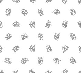 Lotus outline seamless pattern. Background from indian flowers for your website. Indian backdrop for fabric. Vector illustration