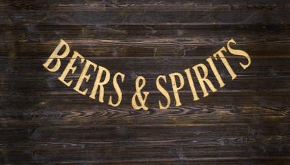 Sign spirits beers