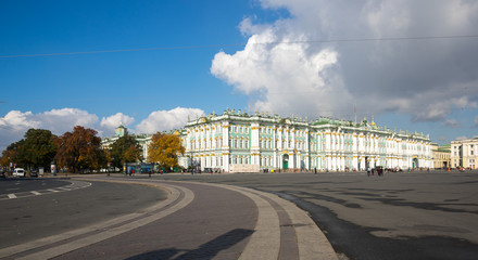 The Winter Palace in Saint-Petersburg, Russia
