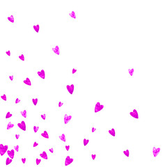 Mother s day background with pink glitter confetti. Isolated heart symbol in rose color. Postcard for mother s day. Love theme for gift coupons, vouchers, ads, events. Women holiday template